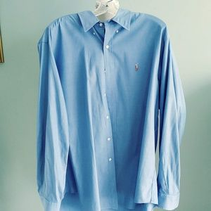 Blue Label Ralph Lauren Men's Dress Shirt Pinpoint